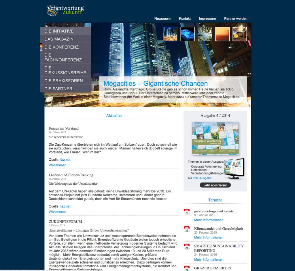 Screenshot Startseite 2014