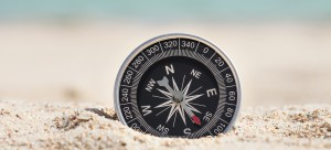Compass On Sand
